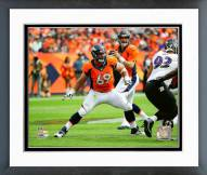 Denver Broncos Evan Mathis 2015 Action Framed Photo