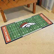 Denver Broncos Football Field Runner Rug