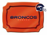 Denver Broncos Glass Rectangle Platter with Charm