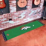 Denver Broncos Golf Putting Green Mat