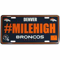 Denver Broncos Hashtag License Plate