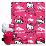 Denver Broncos Hello Kitty Blanket & Pillow