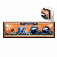 Denver Broncos Helmets Wood Sign