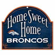 Denver Broncos Home Sweet Home Arched Wood Sign