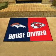 Denver Broncos/Kansas City Chiefs House Divided Mat