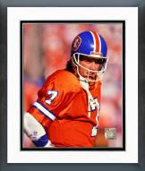 Denver Broncos John Elway 1989 Action Framed Photo