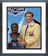 Denver Broncos John Elway Hall of Fame with Bust Framed Photo