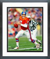 Denver Broncos John Elway Orange Uniform Action Framed Photo