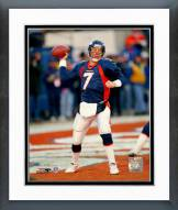 Denver Broncos John Elway Passing Action Framed Photo