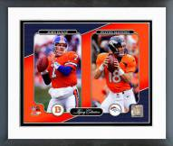 Denver Broncos John Elway & Peyton Manning Legacy Collection Framed Photo