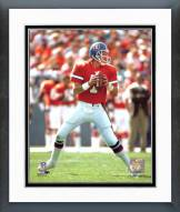 Denver Broncos John Elway ready to pass Framed Photo