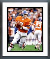 Denver Broncos John Elway Rolling Action Framed Photo