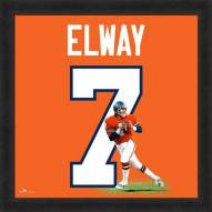 Denver Broncos John Elway Uniframe Framed Jersey Photo
