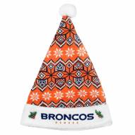 Denver Broncos Knit Santa Hat