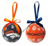Denver Broncos LED Boxed Ornament Set