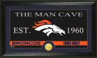 Denver Broncos Man Cave Bronze Coin Panoramic Photo Mint