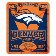 Denver Broncos Marque Fleece Blanket