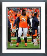 Denver Broncos Marvin Austin 2014 Action Framed Photo