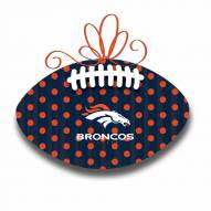 Denver Broncos Metal Football Door Decor