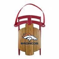 Denver Broncos Metal Sled Tree Ornament