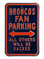 Denver Broncos NFL Authentic Parking Sign