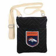 Denver Broncos Chevron Stitch Crossbody Bag