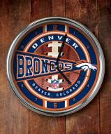 Denver Broncos NFL Chrome Wall Clock