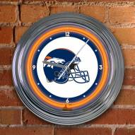 Denver Broncos NFL Neon Wall Clock