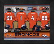 Denver Broncos NFL Personalized Locker Room 11 x 14 Framed Photograph