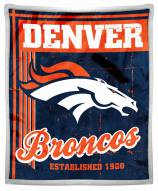 Denver Broncos Old School Mink Sherpa Throw Blanket
