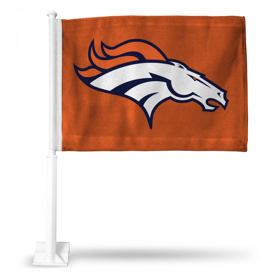 Denver Broncos Orange Car Flag