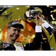 """Denver Broncos Peyton Manning Super Bowl 50 Celebration Signed 16"""" x 20"""" Photo"""