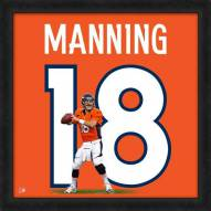 Denver Broncos Peyton Manning Uniframe Framed Jersey Photo