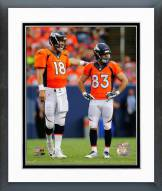 Denver Broncos Peyton Manning & Wes Welker 2014 Action Framed Photo