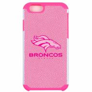 Denver Broncos Pink Pebble Grain iPhone 6/6s Plus Case