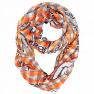 Denver Broncos Plaid Sheer Infinity Scarf