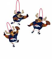 Denver Broncos Reindeer Ornaments