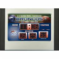 Denver Broncos Scoreboard Desk Clock