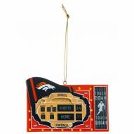 Denver Broncos Scoreboard Tree Ornament