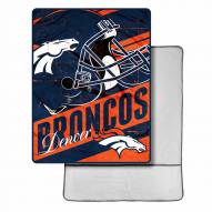 Denver Broncos Sherpa Foot Pocket Blanket