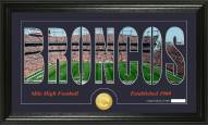 Denver Broncos Silhouette Bronze Coin Panoramic Photo Mint