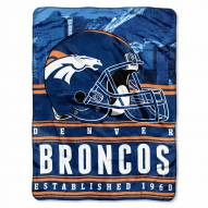 Denver Broncos Silk Touch Stacked Blanket