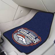 Denver Broncos Super Bowl 50 Champs 2-Piece Carpet Car Mats