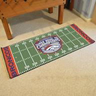Denver Broncos Super Bowl 50 Champs Football Field Runner Rug