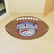 Denver Broncos Super Bowl 50 Champs Football Floor Mat