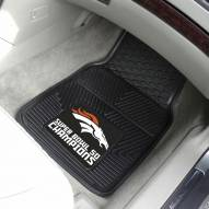 Denver Broncos Super Bowl 50 Champs Vinyl 2-Piece Car Floor Mats