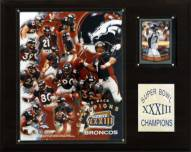 "Denver Broncos 12"" x 15"" Super Bowl XXXIII Champions Plaque"