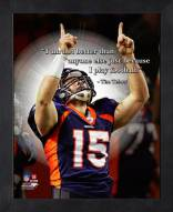 Denver Broncos Tim Tebow Football Framed Pro Quote