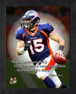 Denver Broncos Tim Tebow NFL Framed Pro Quote