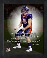 Denver Broncos Tim Tebow Framed Pro Quote